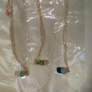 3 plant necklaces